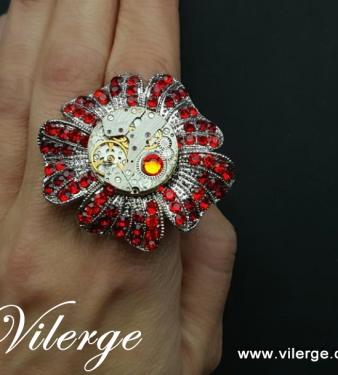стиймпънк пръстен бижута часовников механизъм жени