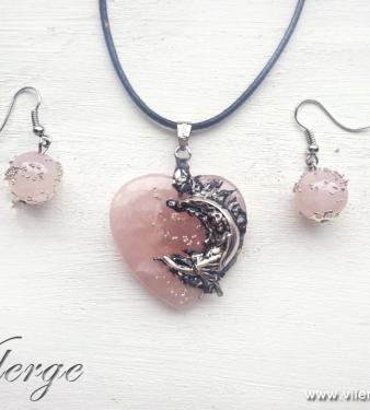 бижута розов кварц любов колекция Свети Валентин жени