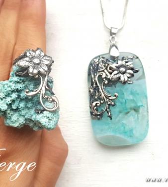бижута с естествен камък Корал за празника на жената подаръци
