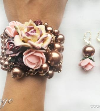 модни перли рози шаби шик подаръци за Св. Валентин и влюбени жени