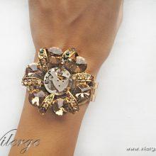 стиймпънк бижута гривни с часовнико механизъм 2017 колекция пролет