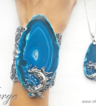 красиви бижута за абитуриентски балове синьо колиета жени мода