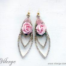 стилна пролетна колекция обеци винтидж бижута красиви жени