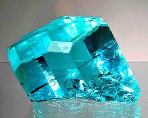 Естествен камък Аквамарин бижута жени красиви