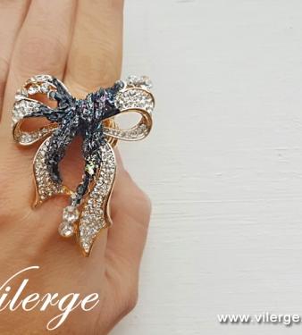 Модни бижута за Лято красиви пръстени с Азурит подарък жени