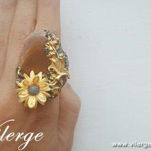 дизайнерски винтидж пръстен мода колекция Лято бижута жени