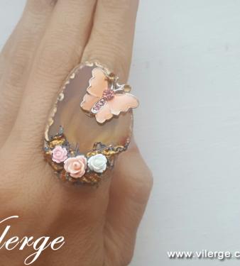 луксозен винтидж пръстен бижута за Лято красиви жени
