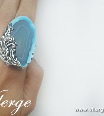 луксозен винтидж пръстен за Лято сезон жени красив елегантен