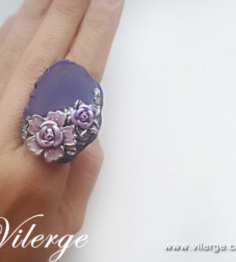 луксозен винтидж пръстен за сезон Лято колекция бижута жени