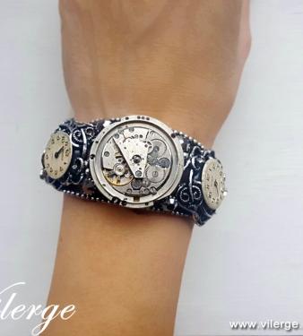стиймпънк гривна бижута с часовников механизъм подарък жени