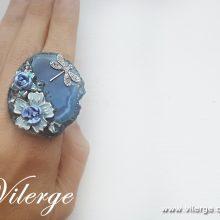 винтидж пръстен бижута за Лято сезон жени цветя море