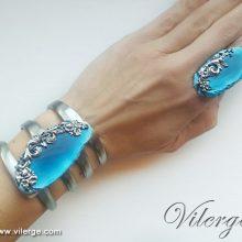 дизайнерски бижута за лято елегантни гривни винтидж пръстен жени