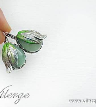 красиви бижута винтидж обеци елегантна лятна колекция