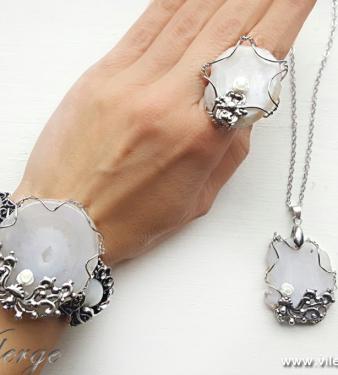красиви бижута за лято и море уникат пръстен гривна подарък жени