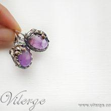 луксозни винтидж обеци елегантни бижута за жени Лято подарък