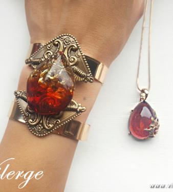 кехлибар бижута с естествен камък винтидж гривна за жени