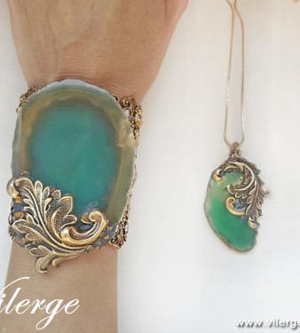 оригинални подаръци за жени с бижута винтидж Колие Лято Море