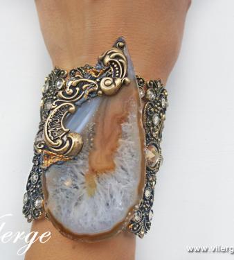 подарък с бижу за жени винтидж гривна естествен камък празник