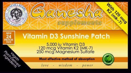 Лепенки Витамин D3 5000 iu - пластири с витамин Д3 patch Vitamin K2 Магнезий