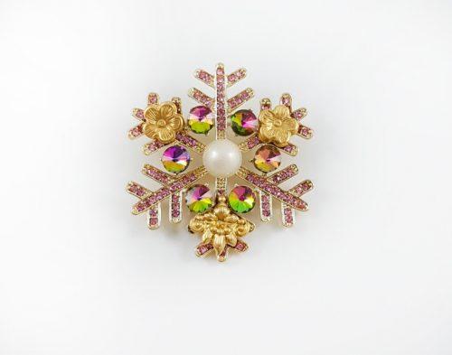 Златна серия брошки за Свети Валентин и подаръци за жени