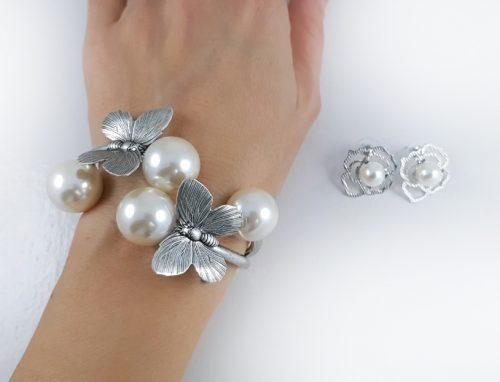 ПЕРЛЕНИ БИЖУТА ЗА СВЕТИ ВАЛЕНТИН сребърна серия подаръци за жени